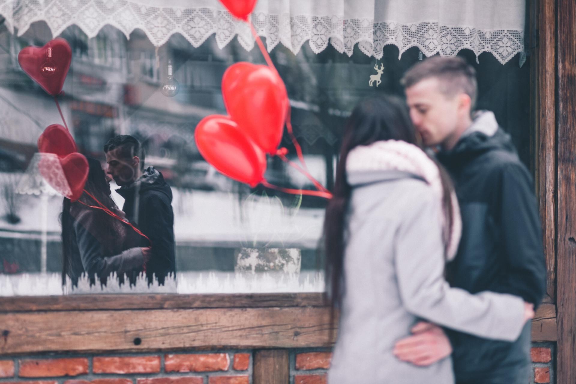A couple who celebrate Valentine's Day
